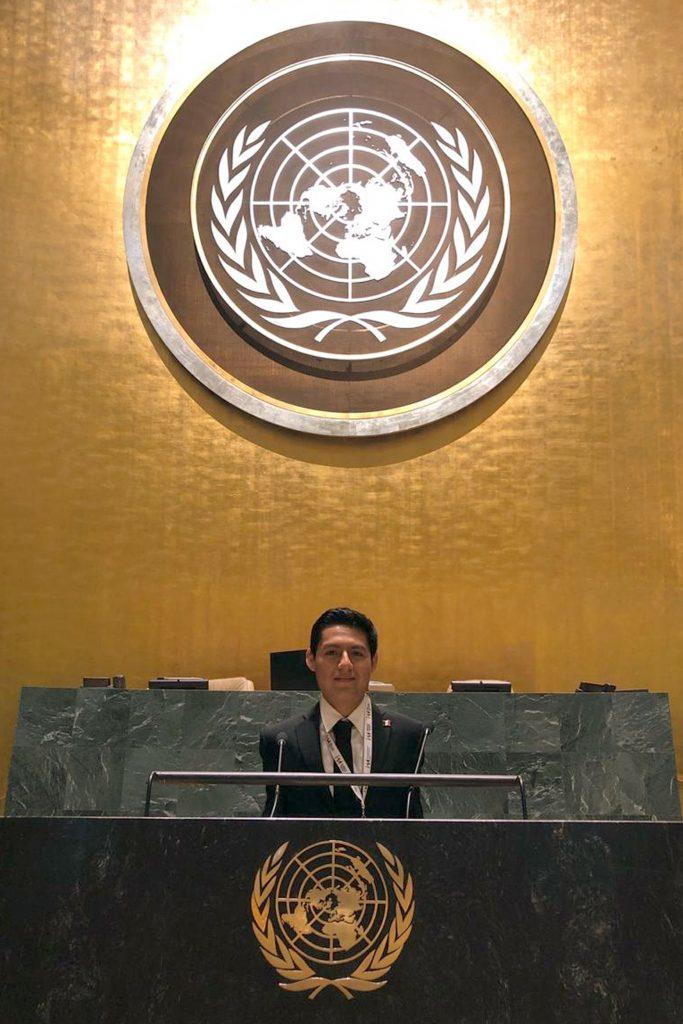 Estudiante de la FDSC participó como delegado juvenil en el 74 Periodo de Sesiones de la Asamblea General de la ONU